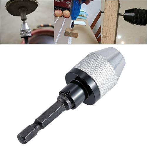 HOHXEN 03-65mm Keyless 3-Jaw Drills Chuck Converter ToolPower Hand Drill Bits Tool Set 14 Hex Shank Drill