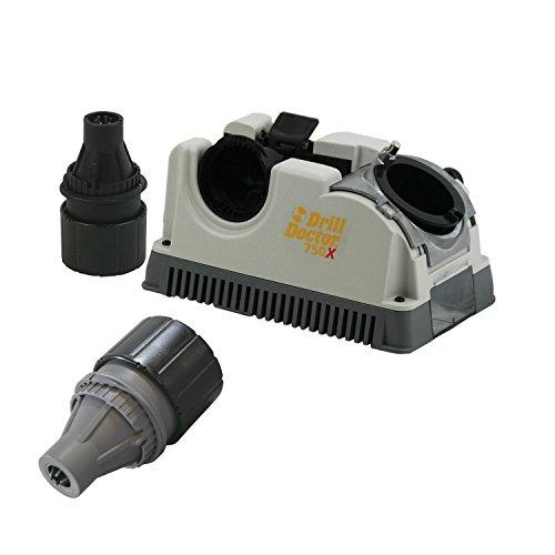 Drill Doctor DD750X Drill Bit Sharpener w Case and DA02105PF Left Handed Chuck