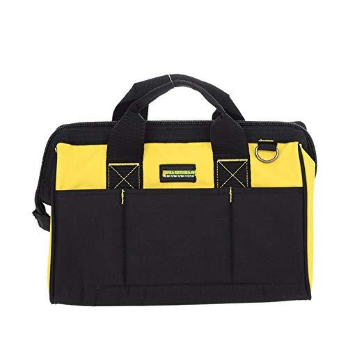Tools Bag Multifunction Power Tool Shoulder BagOxford Cloth Waterproof Tools Bag Organiser Storage Tool Bag Color  Black Yellow Size  One Size