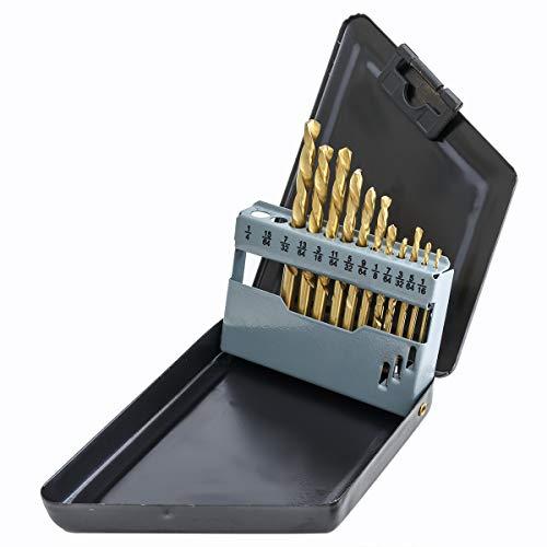 Xtremepower US Left Hand Super-Hard 13 Pcs HSS Drill Bit Set wCase