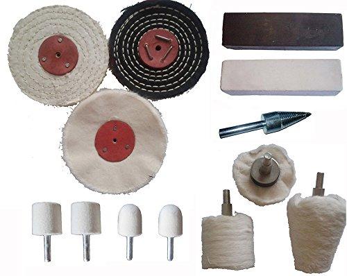 13pc Stainless Steel Polishing Buffing Kit Ferrous Metal Polishing Kit
