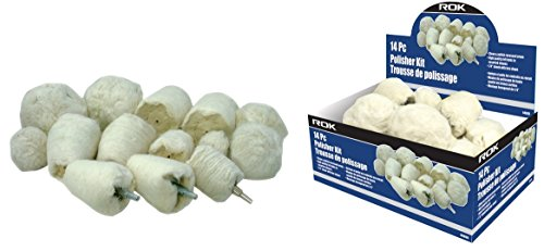 14pc Drill Buffing Polishing Kit -Assorted Shapes Sizes Felt Bobs - 14 Shank