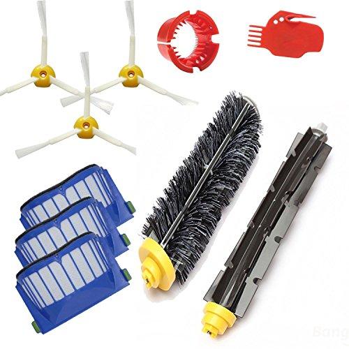 Amyehouse Replacement Parts Kit Bristle Brush Flexible Beater Brush Aero Vac Filter Armed-3 Side Brush for iRobot Roomba 600 Series 595 610 614 620 630 650 660 671 680 690 Vacuum