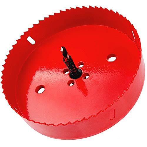 Rannb 100mm 4 Dia Hole Saw BI -Metal Twist Drill Bit Corn Hole Drilling Cutter for Making Cornhole Boards