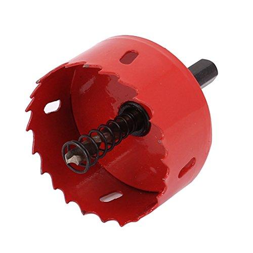 Wood Iron 60mm Dia BI Metal Hole Saw Cutter Drill Bit Red