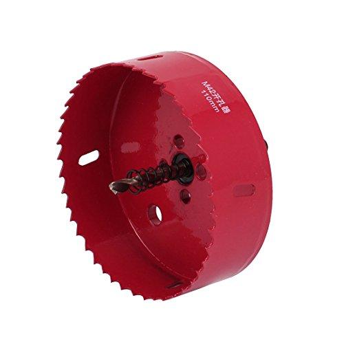 uxcell 110mm Cutting Dia Twist Drill Bit Bimetal Hole Saw Cutter Tool Red