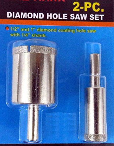 New 2pc 12 1 Diamond Hole Saw Drill Bit Set Ceramic Tile Marble Glass Granite