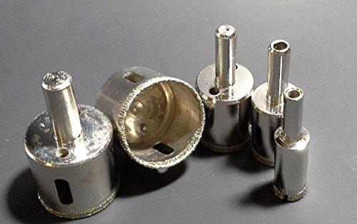 Yosoo 5 pcs Diamond Hole Saw Drill Bit Set 34 - 1 12 inch GRANITE GLASS TILE
