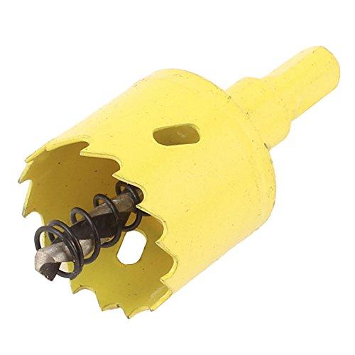35mm Bi-Metal M42 HSS Hole Saw Cutter Drill Bit Yellow