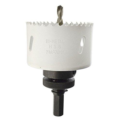 70mm HSS Hole Saw Holesaw Bi-Metal Blade Cutter Drill And Drill Adaptor Arbor