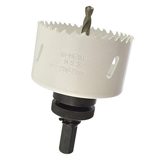 73mm HSS Hole Saw Holesaw Bi-Metal Blade Cutter Drill And Drill Adaptor Arbor