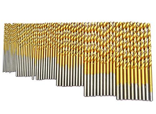 BOSTAL 60Pcs Drill Bits Set 18 116 364 564 332 764 Professional Twist Drill Bit Set Industry HSS TIN Coated Jobbers Length Mini Micro Drill Perfect Use for Steel Wood Plastic Aluminum Alloy