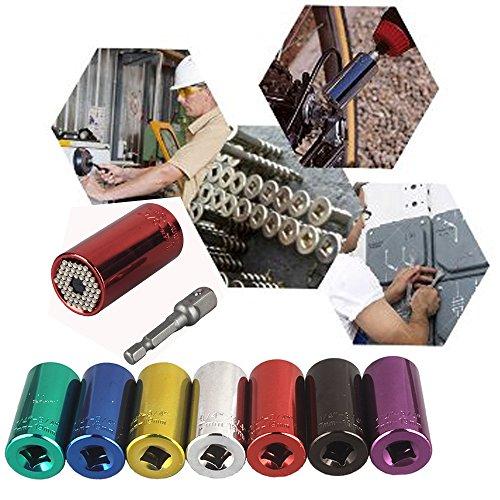 Lelinta 7mm to 19mm Professional Universal Gator Socket Adapter Grip or Power Drill Adapter Tool Universal Repair Tools
