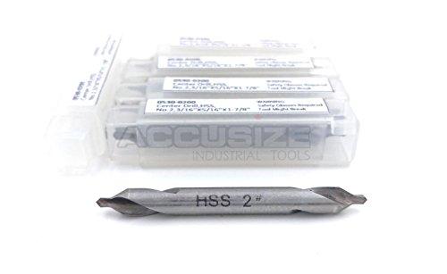 AccusizeTools - 316 x 516 x 1-78 HSS Center Drill Bit 5psset 0530-0200x10