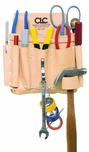 CLC Custom Leathercraft 521 Electricians Tool Pouch Heavy Duty 8-Pocket