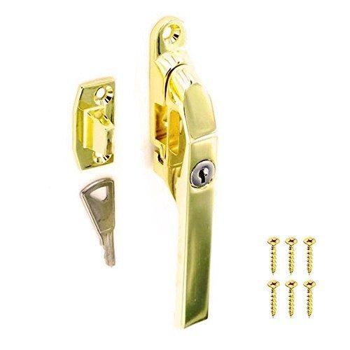 Victorian Brass Casement Window Locking Fastener Handle by Securit