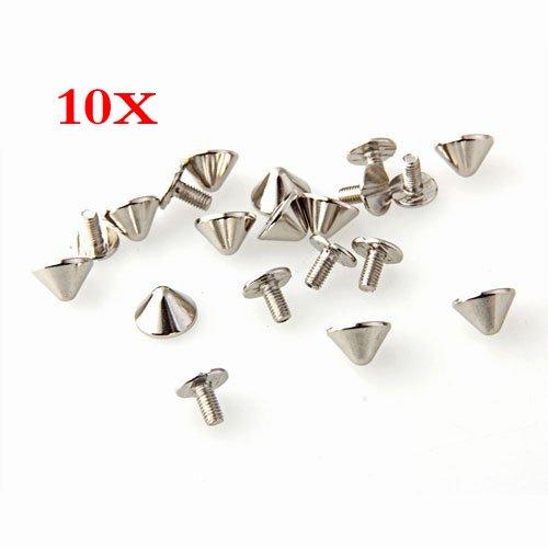 Rivet - TOOGOOR10pcs copper screw rivets spike spike spike silver color new