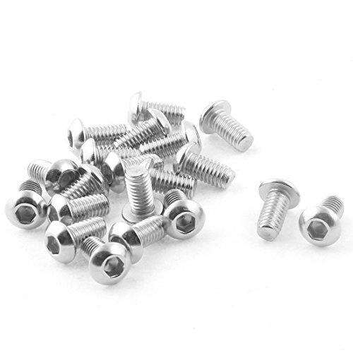 uxcell M6 x 12mm Stainless Steel Hex Socket Button Head Screws Bolts 20Pcs