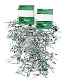 Alcoa Fastening 40112 500 116 - 18 Klik-Fast Blind Rivets Plated Steel Buttonhead