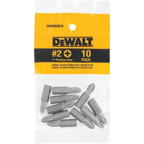 DEWALT DW2002IR10 1-Inch No 2 Phillips IMPACT READY Bit Tips 10-Pack