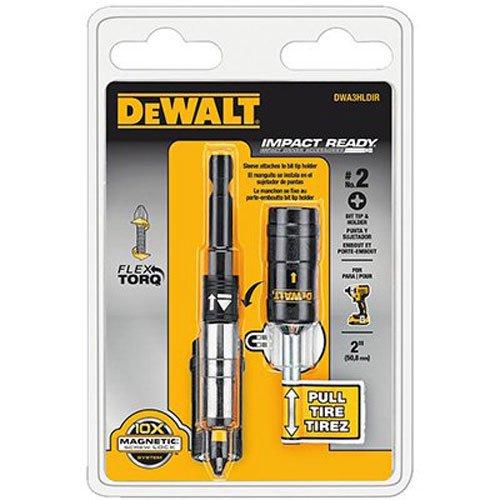 DEWALT DWA3HLDIR IMPACT READY FlexTorq Bit Tip Holder with Screwlock System