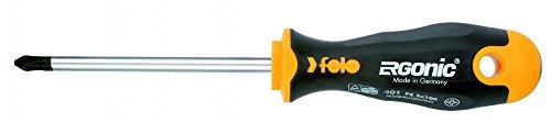 Felo 0715753683 PZ1 PoziDrive Round Ergonomic Screwdriver with Length 3 18