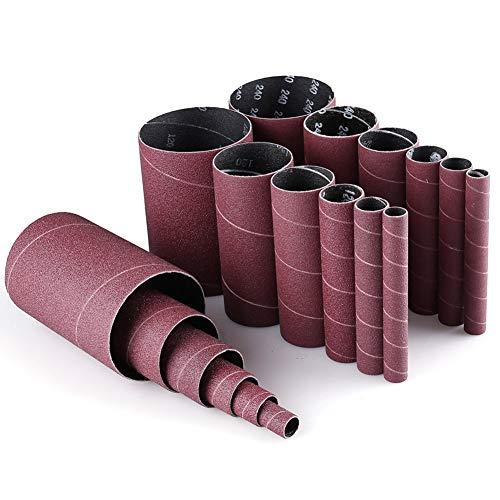 Spindle Sander Sleeves 18PCS Sanding Sleeves for Oscillating Sander 80 120 240 Assorted Grit Sandpaper 4-12 Length 123411-12 2 3 Diameter by LotFancy