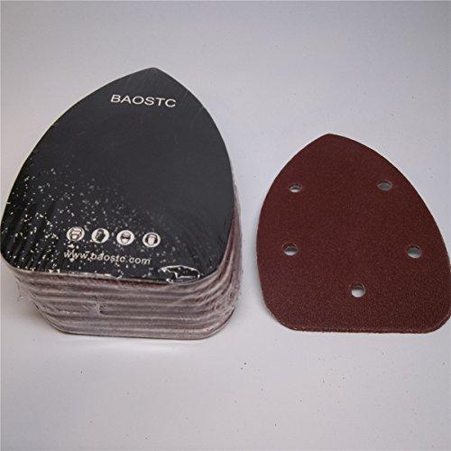 BAOSTC 3-345-12 P240 Palm sanding disc for BLACK&DECKER mouse sander 50PACK