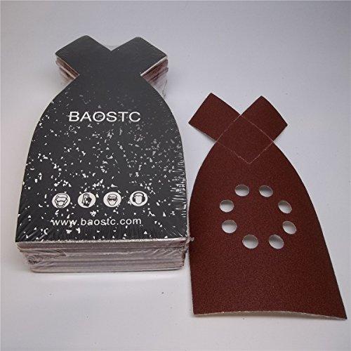 BAOSTC 4-148 P240 velcro sanding disc for BLACK&DECKER mouse sander 50PACK