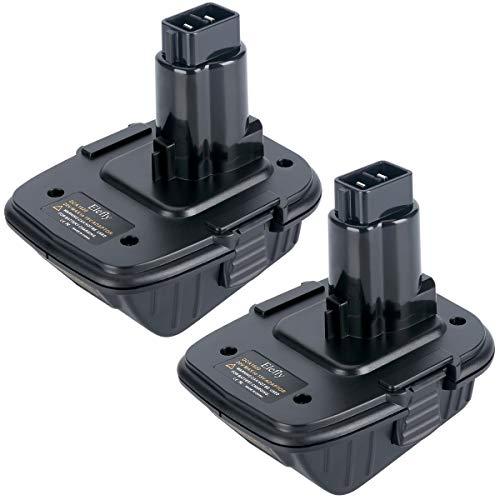 Elefly 2 Pack 20V DCA1820 Battery Adapter for Dewalt 18 Volt Tools Convert Dewalt 20V Lithium Battery DCB200 DCB205 for Dewalt 18V NiCad NiMh DC9096 DW9096 DC9098 DC9099 DW9099 Battery Tools