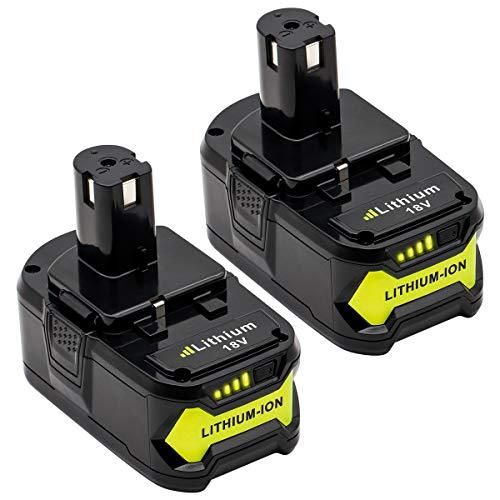 KINGTIANLE 2packs 60Ah 18V Replacement Battery for Ryobi 18V Lithium Battery P102 P103 P105 P107 P108 P109 Ryobi ONE Cordless Tool Battery
