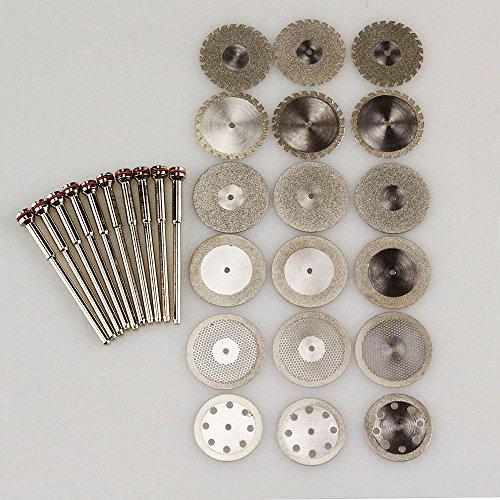 Airgoesin 18 Dental Diamond Polishing Wheel Disc Cutter Plaster 10 HP Shank Mandrel 235mm