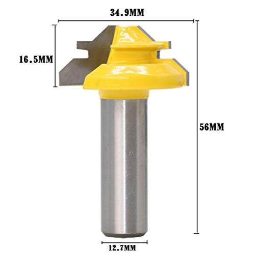 DBoyun 12 Shank 1-38 Diameter 45 Degree Lock Miter Router Bit Ogee Panel CNC Cabinet Door Rail Stile Router Bit