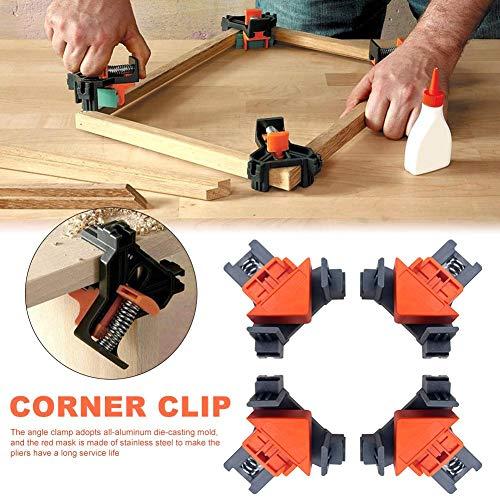 win-full 4pcs Woodworking Multifunction Angle Clamp Woodworking Corner Clip Fixer Woodworking Kit DIY Tools useful