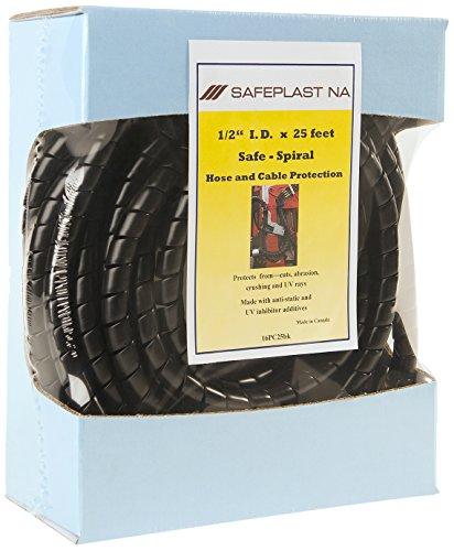 Pre-Cut Spiral Wrap Hose Protector 067 OD 25 Length Black