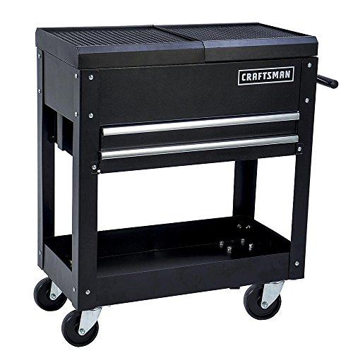 Craftsman Tool Box Cart 350 Lb Large Capacity Steel Sliding Drawer Black