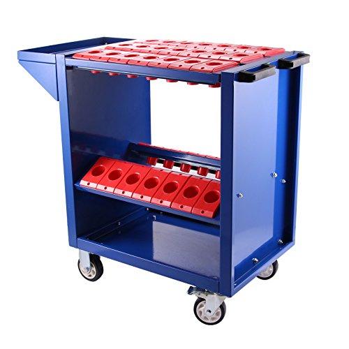 Mophorn Tool Cart 40 Taper Tool Holder CNC Tool Cart 35 Capacity CAT40 BT40 Service Carts with Wheels Heavy Duty BT40 35 Capacity