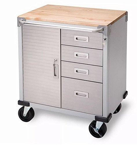 4-Drawer Steel Metal Tool Storage Cabinet Box Chest Rolling Toolbox Organizer Bin Mechanics Work Bench