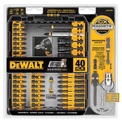 DEWALT DWA2T40IR IMPACT READY FlexTorq Screw Driving Set 40-Piece
