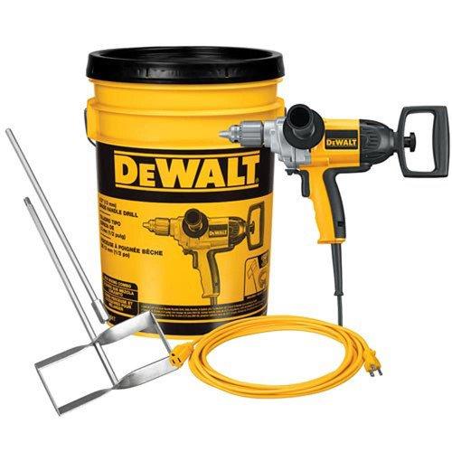 DeWalt DW130VBKT 12 Spade Handle Drill 25 Extension Cord in a Bucket