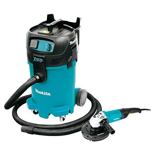 Makita VC4710X1 12 gallon Xtract Vac WetDry Vacuum and 7 Angle Grinder