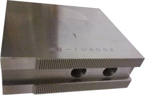USST KT-10400F Steel Flat Soft Chuck Jaws for 10 CNC Lathe Chucks 4 Tall Set of 3 Pieces