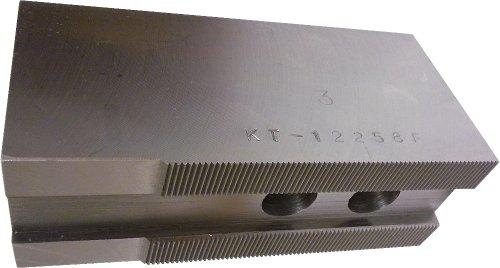 USST KT-12258F Steel Flat Soft Chuck Jaws for 12 CNC Lathe Chucks  25 Tall Set of 3 Pieces