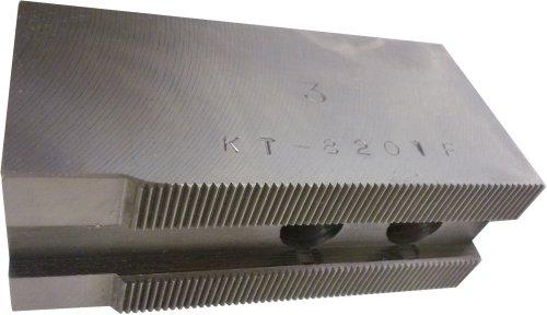 USST KT-8201F Steel Flat Soft Chuck Jaws for 8 CNC Lathe Chucks 2 Tall Set of 3 Pieces