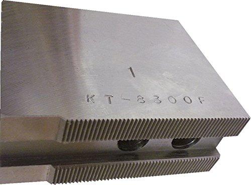 USST KT-8300F Steel Flat Soft Chuck Jaws for 8 CNC Lathe Chucks 3 Tall Set of 3 Pieces