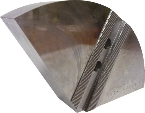 USST RKT-10200S Steel Round Chuck Jaws for 10 CNC Lathe Chucks 2 Tall Set of 3 Pieces