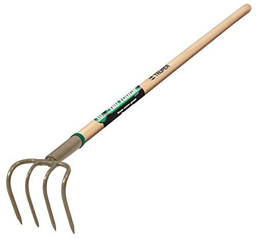 Truper 30024 Tru Tough 4-Tine Forged Cultivator 5-Inch Head 54-Inch Wood Handle
