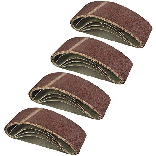 Belt Power Finger File Sander Abrasive Sanding Belts 400mm x 60mm 60 Grit 20 PK