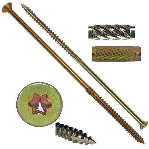 14 X 6 Extra Long Gold Star Wood Screw TorxStar Drive Head 1 Pound - Multipurpose TorxStar Drive Wood Screws