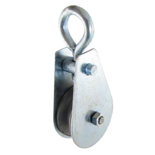 2 Pcs 01 Ton Chain Rope Swivel Pulley Rigging Hoist Hardware